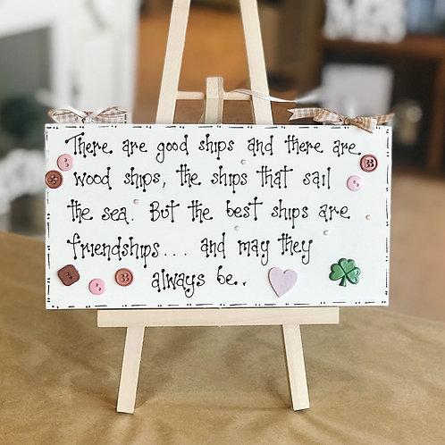 Irish Friendship Plaque