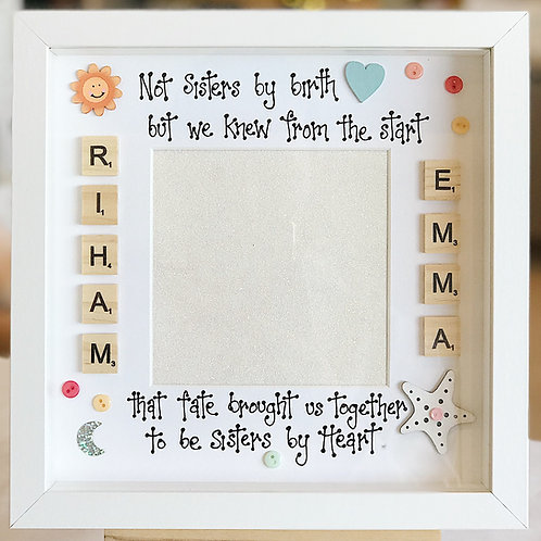 'Sisters By Heart..' Friendship Frame