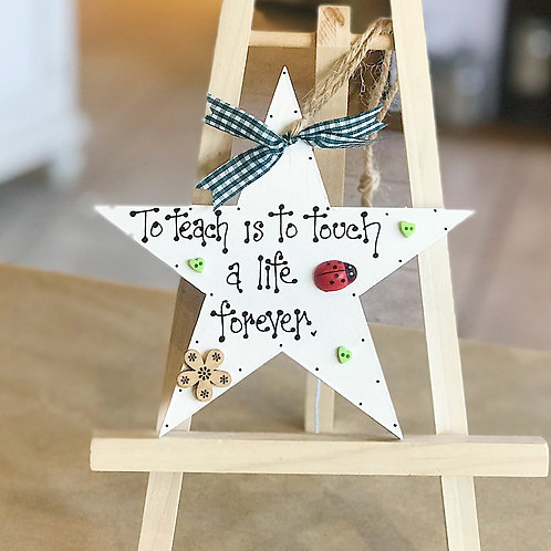Teacher Star Plaque