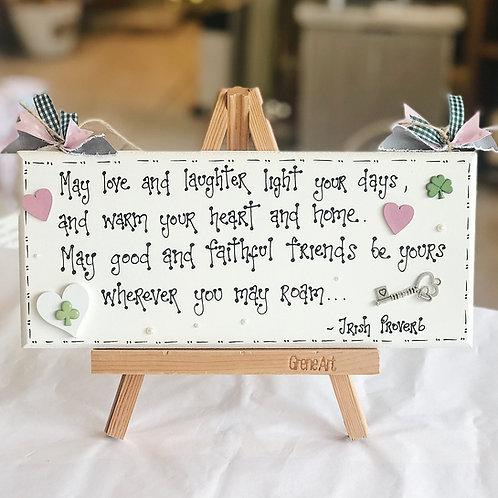 Irish Proverb Plaque