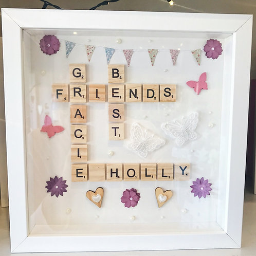 Best Friends Scrabble Frame