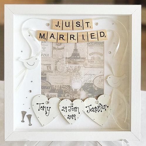 'Just Married..' Wedding Frame
