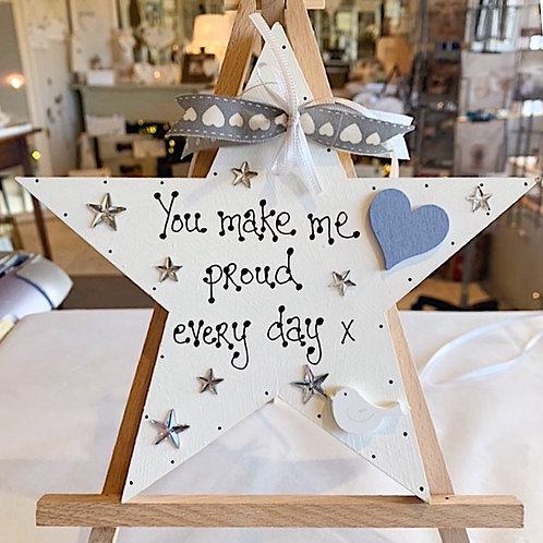 'You Make Me Proud..' Plaque