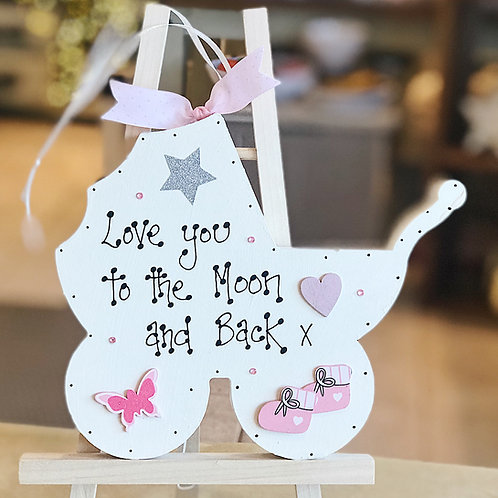 'Love You..' Baby Girl Plaque