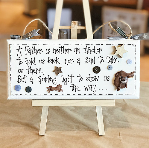 Father Quote Plaque