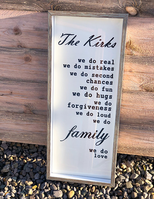 'We Do' Family Frame