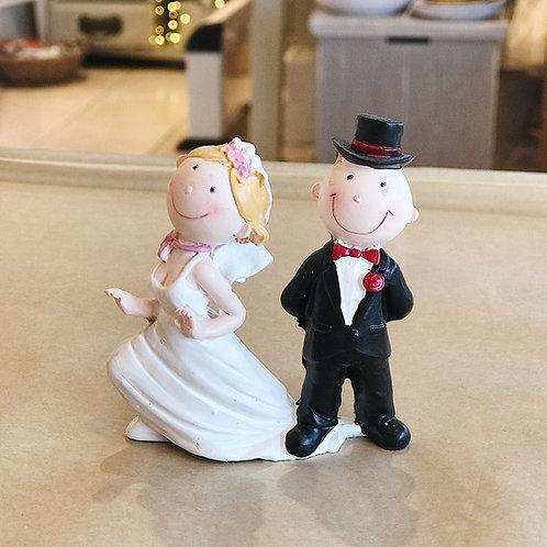 Fun Mr & Mrs Cake Topper