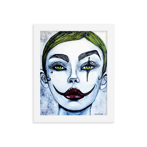 (THE JOKES ON YOU ) Framed photo paper poster