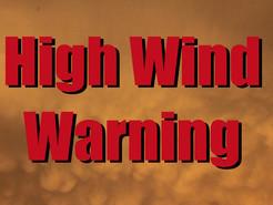 High Wind Warning Through Friday Night