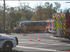 Two MCPS School Buses Hit After Truck Runs Red Light