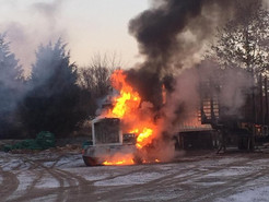 Fire Damages Truck in Poolesville