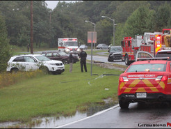 Three-Car Crash Leaves Woman Trapped