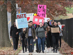 Hundreds of Germantown Teens Walk Out of School to Protest Election