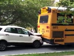 One Injured After School Bus Collision in Germantown