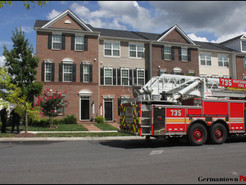 MCFRS Called for Townhouse Garage Fire in Clarksburg