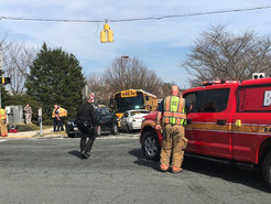 MCPS School Bus Involved in Four-Vehicle Crash