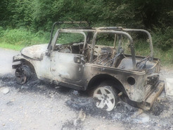 Jeep Destroyed by Fireworks During Fourth of July Celebration in Poolesville