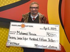 Clarksburg Man Wins Big on Maryland Lottery Racetrax Game