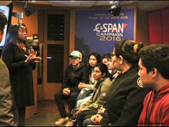 C-SPAN Campaign Bus Visits Seneca Valley High School
