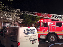 Family of Four Displaced After Townhouse Fire in Damascus