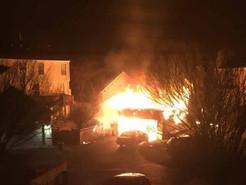 Garage Burns Down to Ground, Damages Homes