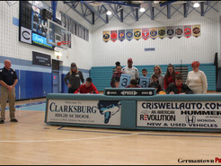 Clarksburg Football Players Sign College Commitments