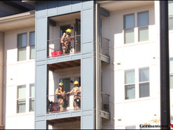 Fire Rescue Responds to Deck Fire at Germantown High Rise