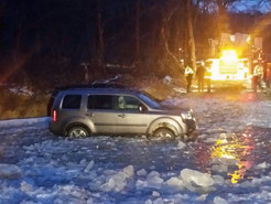 Another Icy Water Rescue at Ten Mile Creek