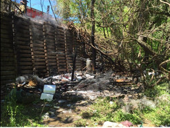 Firefighters Respond to Homeless Camp Fire