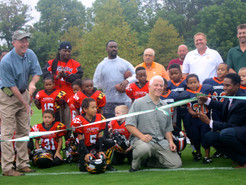 Parks Department Holds Ribbon-Cutting for New Field at Ridge Road Park