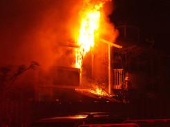 Firefighters Battle Germantown Townhouse Fire
