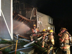 Townhouse Fire & Collapse Injures Eight Firefighters