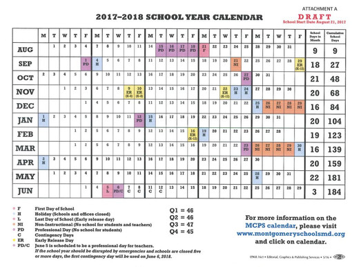 MoCo Schools May Begin A Full Week Earlier in August 2017 ...