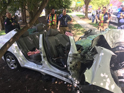 Single-Vehicle Crash Leaves One Person Trapped