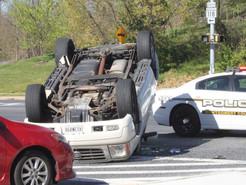 Overturned Vehicle Snarls Traffic