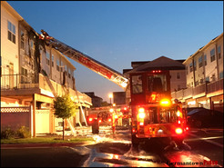 MCFRS Responds to Pre-Dawn Townhouse Fire in Clarksburg