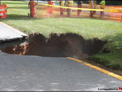Massive Rainfall Leads to Sinkholes and Water Rescues in Germantown Area