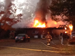 Fire Rips Through Damascus Road Home