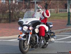 Santa Trades His Sleigh for a Harley for Annual MCPD Santa Ride