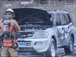Fire Rips Through SUV
