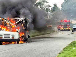 MCFRS Responds to Burning Mail Truck