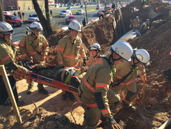 MCFRS Saves Trapped Worker From Ditch in Germantown