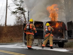 Firefighters Respond to Van Fire in Boyds