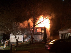 Fire Displaces Family in Damascus