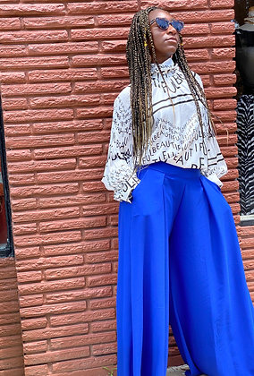 Royal blue maxi pants
