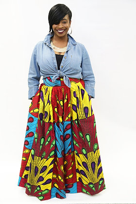 Nubian Goddess Maxi Skirt