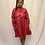 Thumbnail: Red Faux Leather Midi Dress