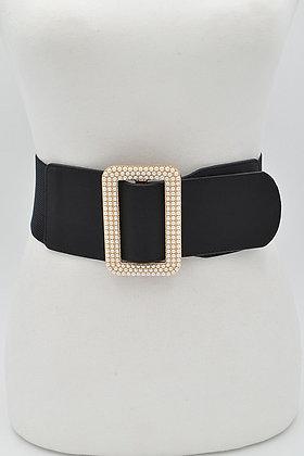 Pearl Buckle Elastic Belt