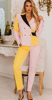 Bossy Color Block Suit