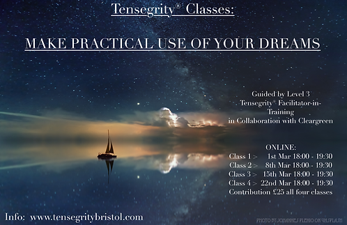 Online Classes - Make Practical Use of Your Dreams (4 classes block)